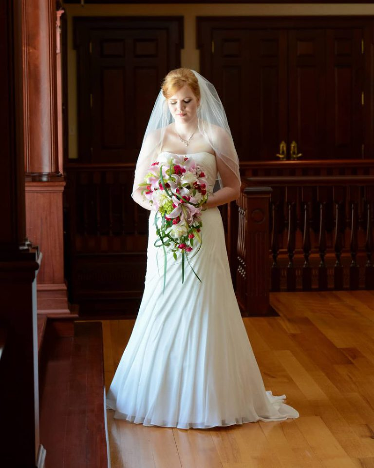 A bridal portrait at the Meadow Event Park in Doswell Virginia