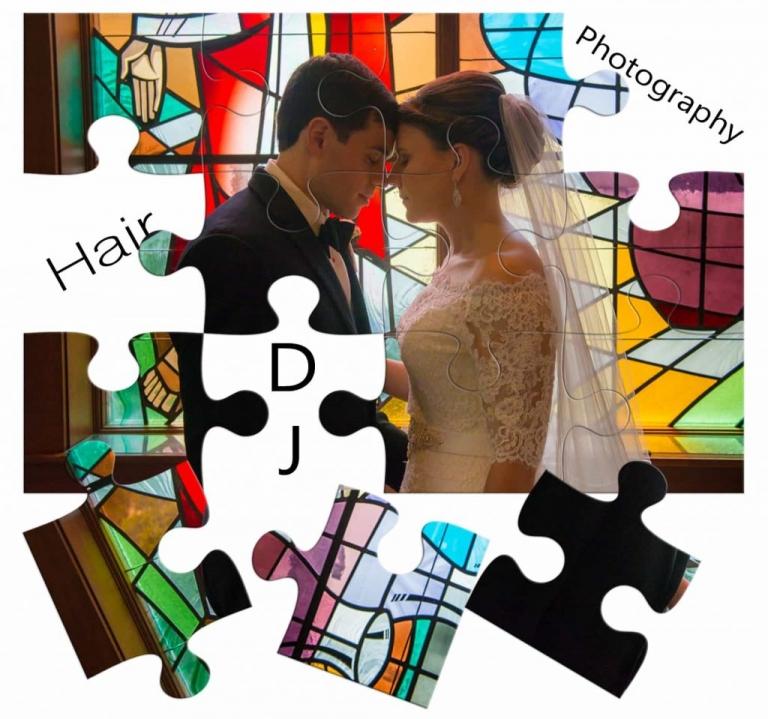 Puzzle bride and groom
